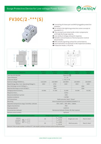 FATECH surge arrester FV30C/2-275 for protection of 1 phase power