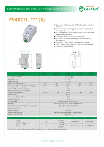 FATECH surge arrester FV40C/1-320S for ac power supply