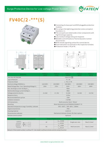 FATECH surge arrester FV40C/2-440 for ac power supply