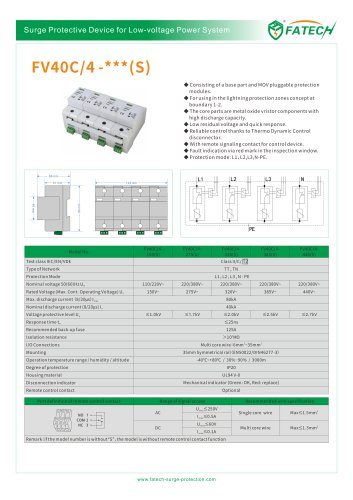 FATECH surge arrester FV40C/4-440 for protection of ac power