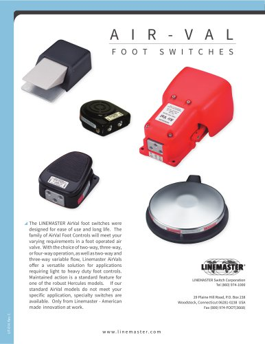 AIR-VAL FOOT SWITCHES