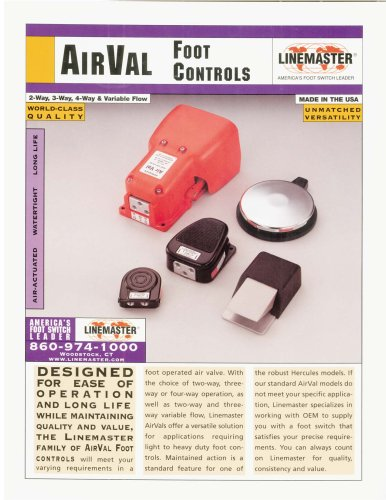 AirVal Foot Control Switches