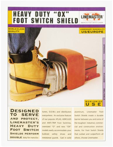 "Heavy Duty ""OX"" Foot Switch Shield"