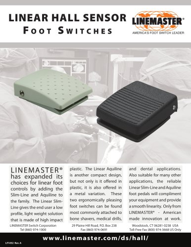 LINEAR HALL SENSOR Foot Switches