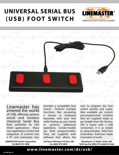 UNIVERSAL SERIAL BUS (USB) FOOT SWITCH