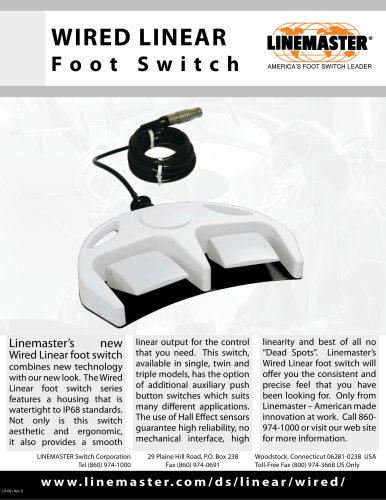 WIRED LINEAR Foot Switch