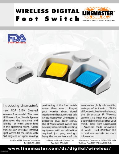 WIRELESS DIGITAL Foot Switch