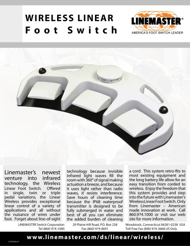 WIRELESS LINEAR Foot Switch