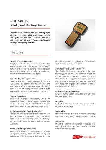 ACT Meters International_GOLD PLUS Infosheet - ACT Meters