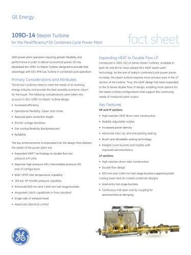 109D-14 Steam Turbine Fact Sheet (r9)