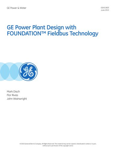 GE Power Plant Design with FOUNDATION™ Fieldbus Technology