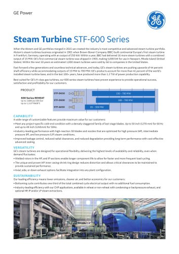 Steam Turbine  STF-600 Series