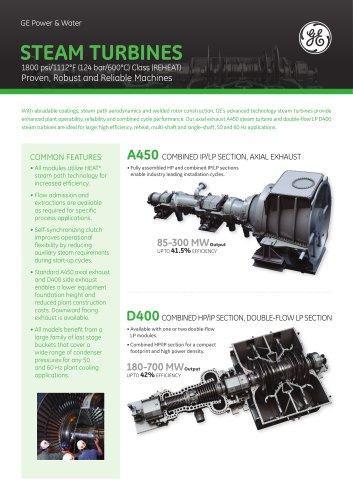 STEAM TURBINES A450 / D400