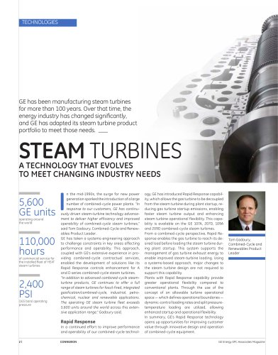 Steam Turbines: a technology that evolves