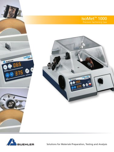 IsoMet® 1000 PRECISION SECTIONING SAW