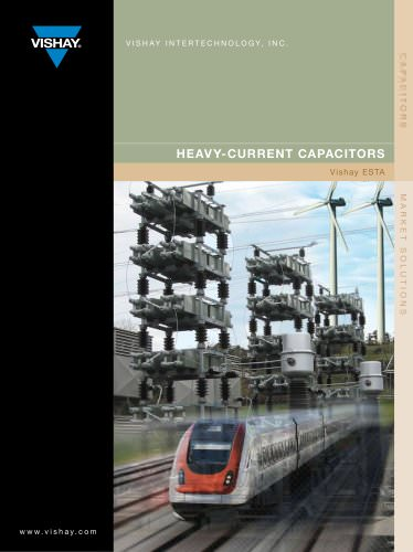 Heavy-Current Capacitors Brochure Vishay ESTA