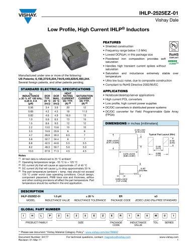 IHLP2525EZ-01 INDUCTORS