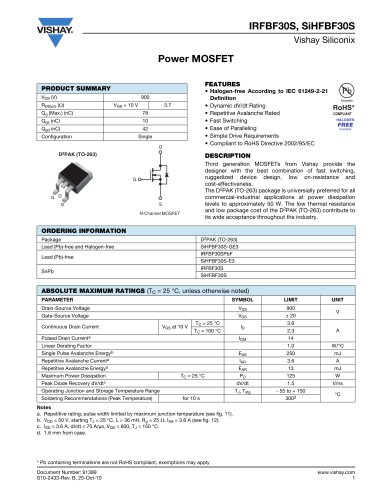 MOSFETs - Drain-to-source voltage 650 V and above
