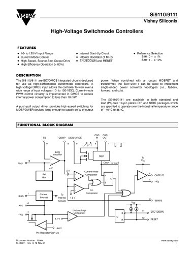 Power ICs - DC-DC Isolated Power Supplies - PWM Controllers
