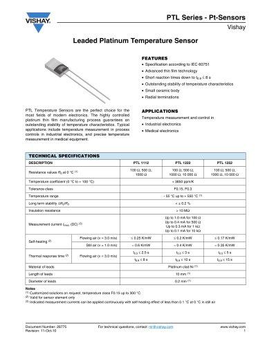 Resistors, Non-linear - Platinum Sensors-RTD