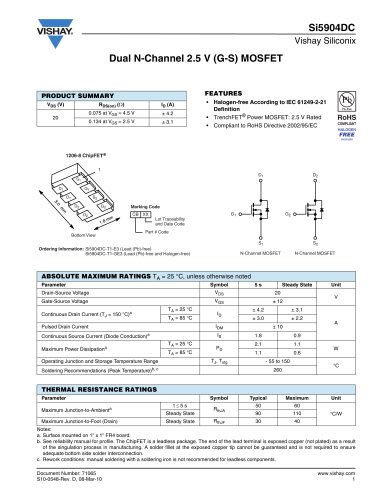 Si5904DC MOSFETS