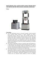 Shanghai Bairoe Hydraulic Universal Tester for Metal and Non-metal Materials