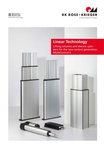 Complete catalogue -lifting columns and electric cylinders- for the new control generation MultiControl II