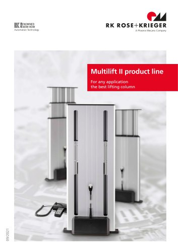 Lifting columns Multilift II product line