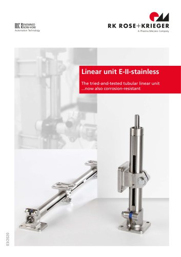 Linear unit E-II-stainless