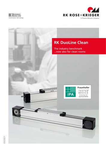 Linear unit RK DuoLine Clean