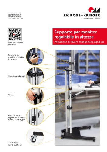 Monitor floor stand adjustable