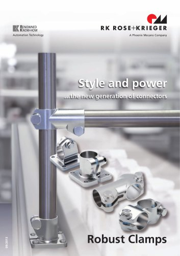Robust Clamps - Tube connection systems made of stainless steel