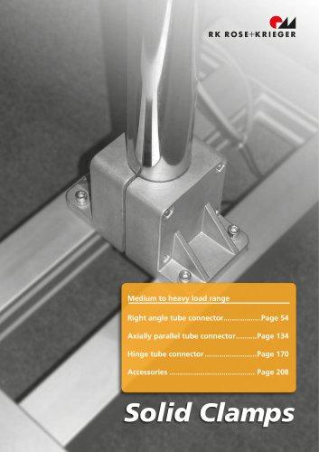 Solid clamps - the aluminium tube connectors