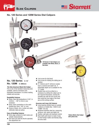 No. 120 Series and 120M Series Dial Calipers