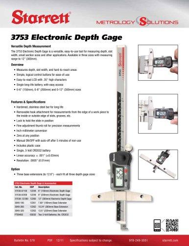 3753 Electronic Depth Gage