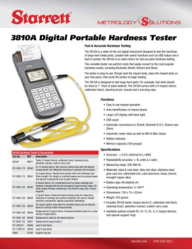 3810A Digital Portable Hardness Tester