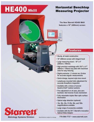 HE400 MkIII Horizontal Benctop Measuring Projector