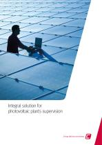 Integral solution for photovoltaic plants supervision - 1