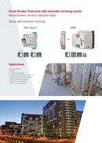 Solutions for earth leakage protection and circuit breakers with automatic reclosing system - 8