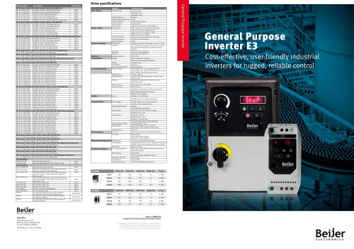 General Purpose Inverter E3