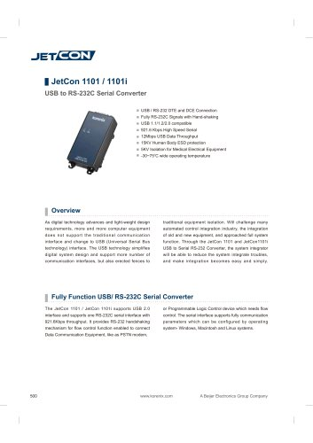 JetCon 1101 - data sheet
