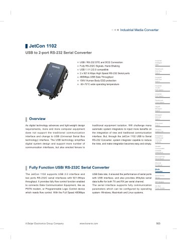 JetCon 1102 - data sheet