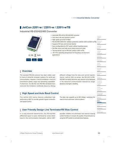 ​JetCon 2201-w - data sheet