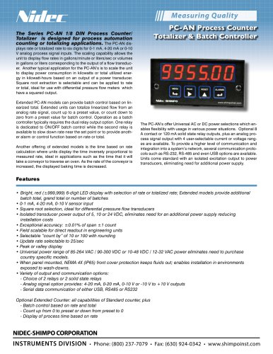 PC-AN Process Counter Totalizer