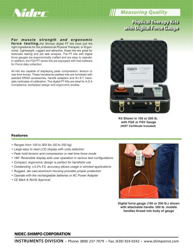 Physical Therapy Kits with Digital Force Gauge