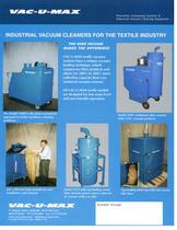 INDUSTRIAL VACUUM CLEANERS FOR THE TEXTILE INDUSTRY The high vacuum makes the difference - 1