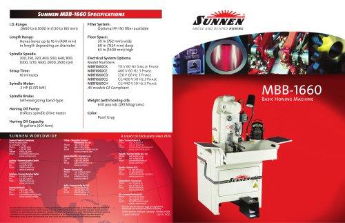 MBB-1660 Basic Honing Machine