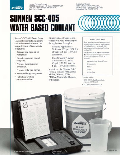 X-SCC-405: Water based Coolant