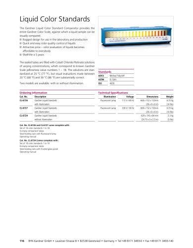 Liquid Color Standards