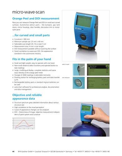 Orange Peel / DOI micro-wave-scan